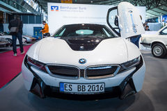 Plug-in hybrid sports car BMW i8. Royalty Free Stock Images