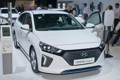 Plug-in Hyundai Ioniq стоковые изображения rf