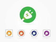Plug icon vector illustration colorful. Plug icon colorfull, vector illustration for icon website stock illustration
