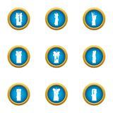 Plug icons set, flat style. Plug icons set. Flat set of 9 plug vector icons for web isolated on white background Stock Images