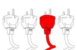 Plug in  illustration Royalty Free Stock Image
