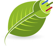 Plug leaf royalty free illustration