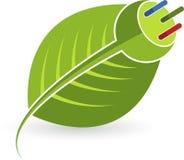 Plug leaf. Illustration art of a electrical plug leaf with isolated background Stock Photo