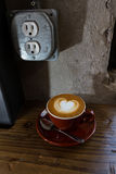 Cappuccino Recharge. Morning recharge at portland cafe Royalty Free Stock Photo