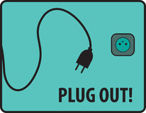 Plug out banner Stock Photography