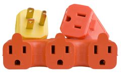 Plug and outlets Stock Photography