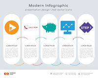 Plug and play infographics design. Infographics design  and plug and play, call now, hedgehog, dashboard images, step 1 icons can be used for workflow layout Royalty Free Stock Photography