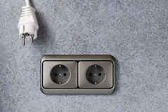 Plug and power socket Royalty Free Stock Images