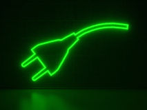 Plug - Series Neon Signs Royalty Free Stock Photography