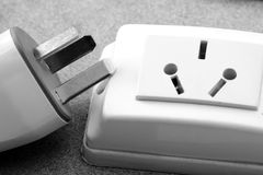 Plug and socket Stock Photo