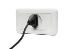 Plug in the socket. Isolated stock image