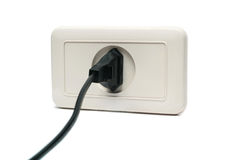 Plug in the socket Royalty Free Stock Image