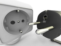 Plug and socket Royalty Free Stock Image