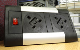 Plug Socket. A double plug socket located in an office Royalty Free Stock Photos