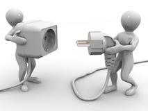 Plug and socket Stock Image