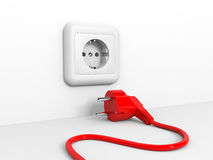 Plug and socket. Stock Images