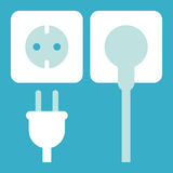 Plug and socket icon Stock Photo