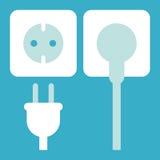 Plug and socket icon Stock Photo