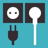 Plug and socket icon vector illustration