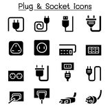 Plug & Socket icon set vector illustration graphic design. Plug Royalty Free Stock Images
