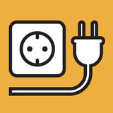 Plug and socket icon Stock Images