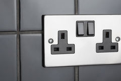 Plug socket in kitchen Stock Photos