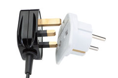 Plug socket for the transformation in the European style. Stock Images