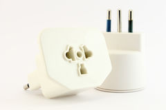 Plug and socket unplugged Stock Images