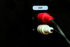 Plug speakers connectors Royalty Free Stock Images