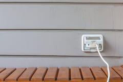 Plug and wall Stock Photography