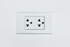 Plug. White plastic plug, condominium Thailand Stock Photos