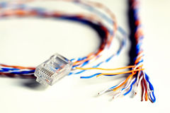 Plug wire color lan Stock Images