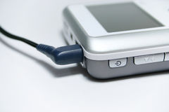 pluggad mp3 Arkivfoton
