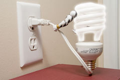 Plugged Light Bulb Royalty Free Stock Images