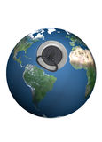 Plughole on the earth. Royalty Free Stock Photos