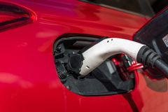 Plugin Hybrid charging royalty free stock photography