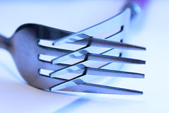 Crossed fork Royalty Free Stock Photos