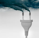 Plugs ejecting smoke - Pollution concept Royalty Free Stock Images