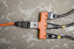 Plugs in extension cord Royalty Free Stock Image