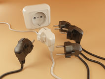 Plugs and Socket Royalty Free Stock Image