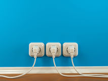 Plugs and Socket. Abstract background Stock Photography