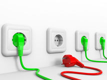 Plugs and socket. Royalty Free Stock Images