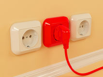 Plugs and sockets Stock Image