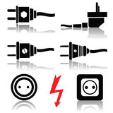 Plugs and sockets Stock Images