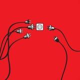 plugs stickkontakten Royaltyfri Illustrationer