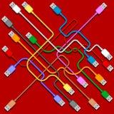 plugs usb Royaltyfria Foton