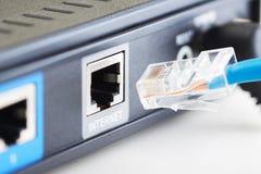 Plugue de conexão da rede Foto de Stock Royalty Free
