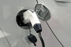 Plugue do carro elétrico foto de stock royalty free