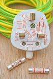 Plugue e fusível elétricos Imagens de Stock Royalty Free