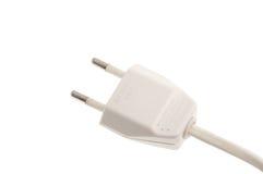 Plugue elétrico isolado no branco Fotos de Stock Royalty Free